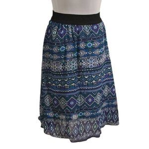 [Lularoe] Green, Purple & Black Skirt - Size XXS